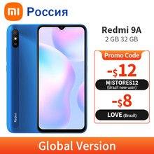 Nova versão global xiaomi redmi 9a 2gb 32gb 9 um telefone móvel 5000mah mtk helio g25 octa núcleo 13mp câmera ai 6.53