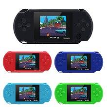 3インチ16ビットPXP3スリム駅ビデオゲームプレーヤー携帯ゲームコンソールと2個無料ゲームカードを内蔵150古典的なゲーム