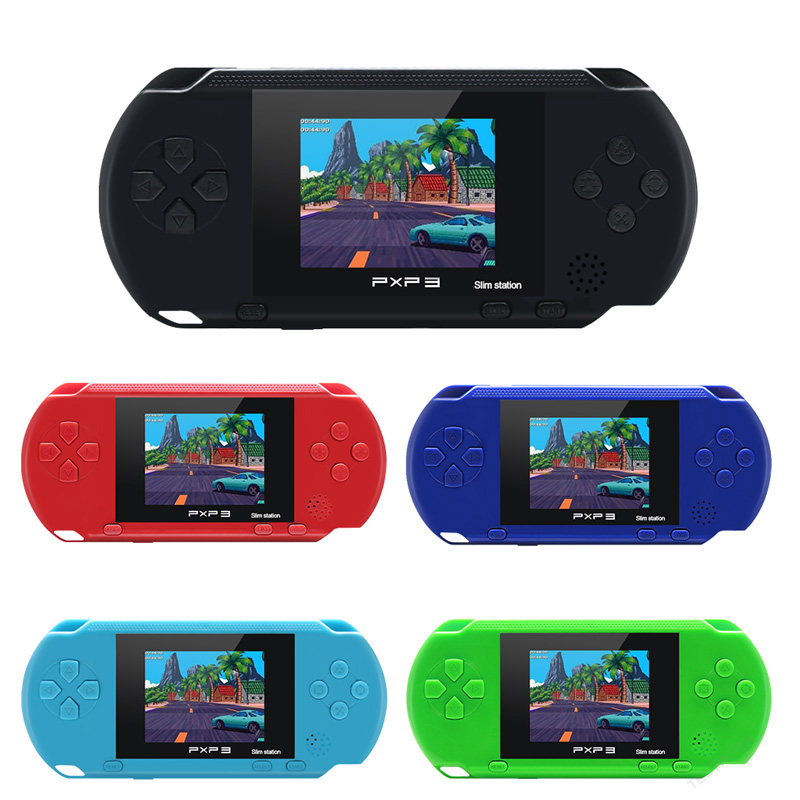 3 Inch 16 Bit PXP3 Slim Station Video Games Player Handheld Game Console with 2 Pcs Free Game Card  built-in 150 Classic Games