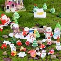 Créatif noël Mini cadeaux père noël arbres de noël chaussettes bonhomme de neige flocon de neige noël chapeau béquille haltère cadeau boîte de noël décor