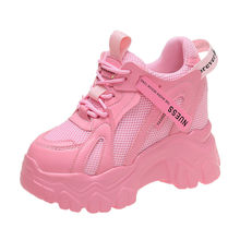 Height Increasing Insole Women's Shoes Pink Dad Shoes Women's Summer Tide Ins2021 New Mesh Surface Platform Casual Shoes