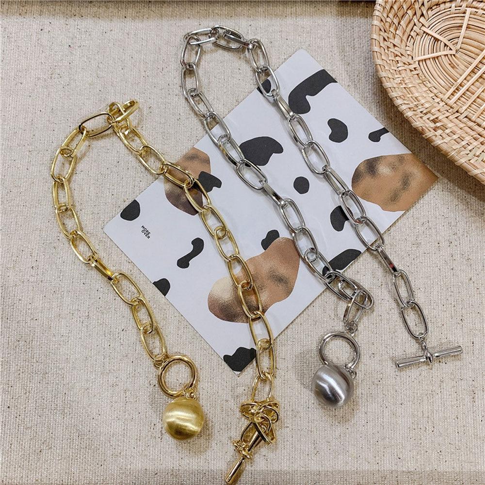 Trendy Hip Hop Oval Chain Ball Pendant Necklace and Bracelet – MARIE Bracelets Jewellery Sets Necklaces 8d255f28538fbae46aeae7: Gold bracelet|Gold Necklace|Silver bracelet|Silver Necklace