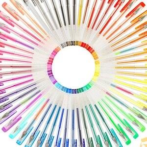 120 цветов, набор гелевых ручек, стержни гелевые чернильные ручки, металлические пастельные неоновые блестящие эскизы, цветная ручка для рисования, школьные канцелярские принадлежности, цветной гель Pe