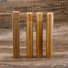 Natural Eco Friendly Bamboo Toothbrush Travel Case Reusable Bamboo Portable Travel holder set Washable BPA Free bamboo case