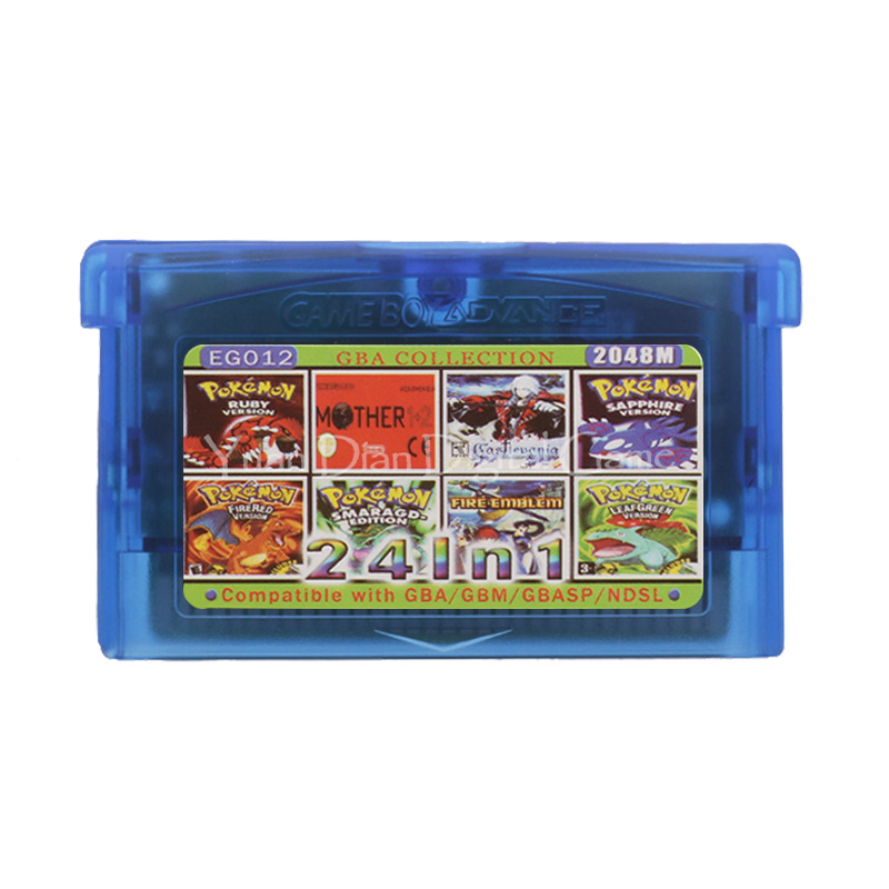 For Nintendo GBA Video Game Cartridge Console Card Collection English Language EG012 24 In 1