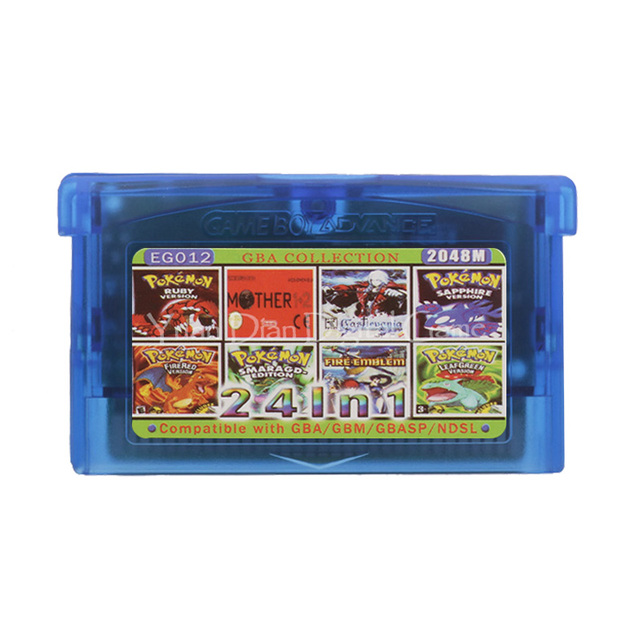 任天堂gbaビデオゲームカートリッジコンソールカードコレクション英語EG012で24 1