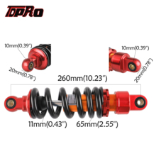 TDPRO 26cm 10mm Aluminum Alloy Shock Absorber Rear Suspension Motorcycle Spring For 110cc 140cc 150cc Scooter ATV Pit/Dirt Bike tdpro 250mm moto motorcycle rear shock absorber suspension spring atv quad dirt pit bike sdg ssr taotao coolster 110cc 125cc