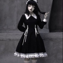 Lolita-Dress Maid Goth-Accessories Mall Cosplay Qweek-Goth Gothic-Style Kawaii Bandage