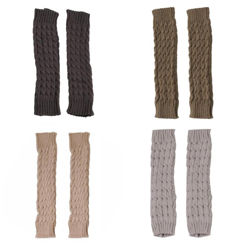 Winter Leg Warmers For Women Fashion Gaiters Boot Cuffs Woman Thigh Knee High Long Socks Stockings Gifts Knit Knitted Knee Socks