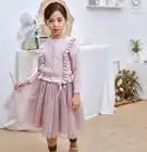 Mädchen Winter Kleider Spitze Prinzessin Kostüm Kinder Kleider Langarm Tutu Kleid Party Kleider Kinder Kleidung