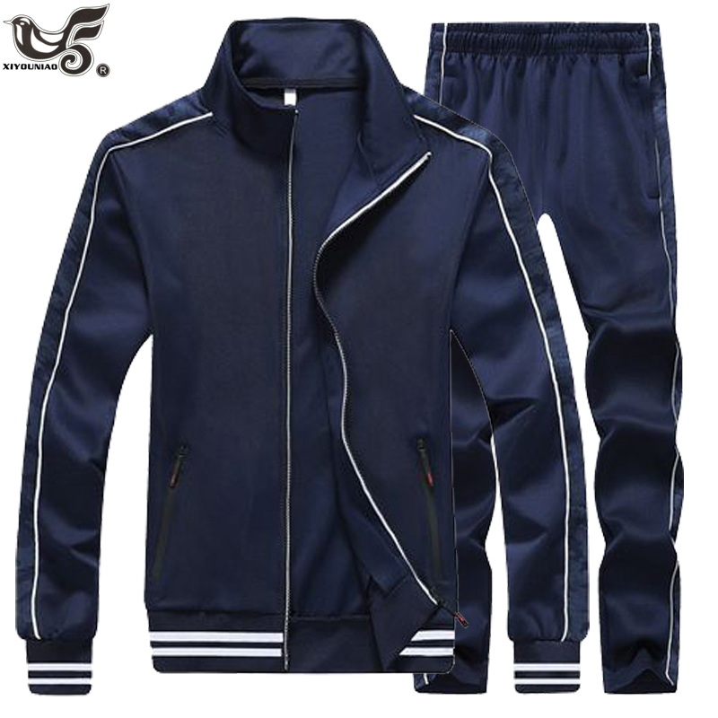 Plus Size 4XL 5XL Spring Autumn Tracksuit Men Two Piece Clothing Sets Casual Basketball Track Suit Sportswear Sweatsuits