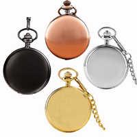 Reloj de bolsillo de cuarzo liso de plata de nueva llegada, cadena Fob, el mejor regalo para hombres y mujeres, números romanos Steampunk de moda, reloj de bolsillo