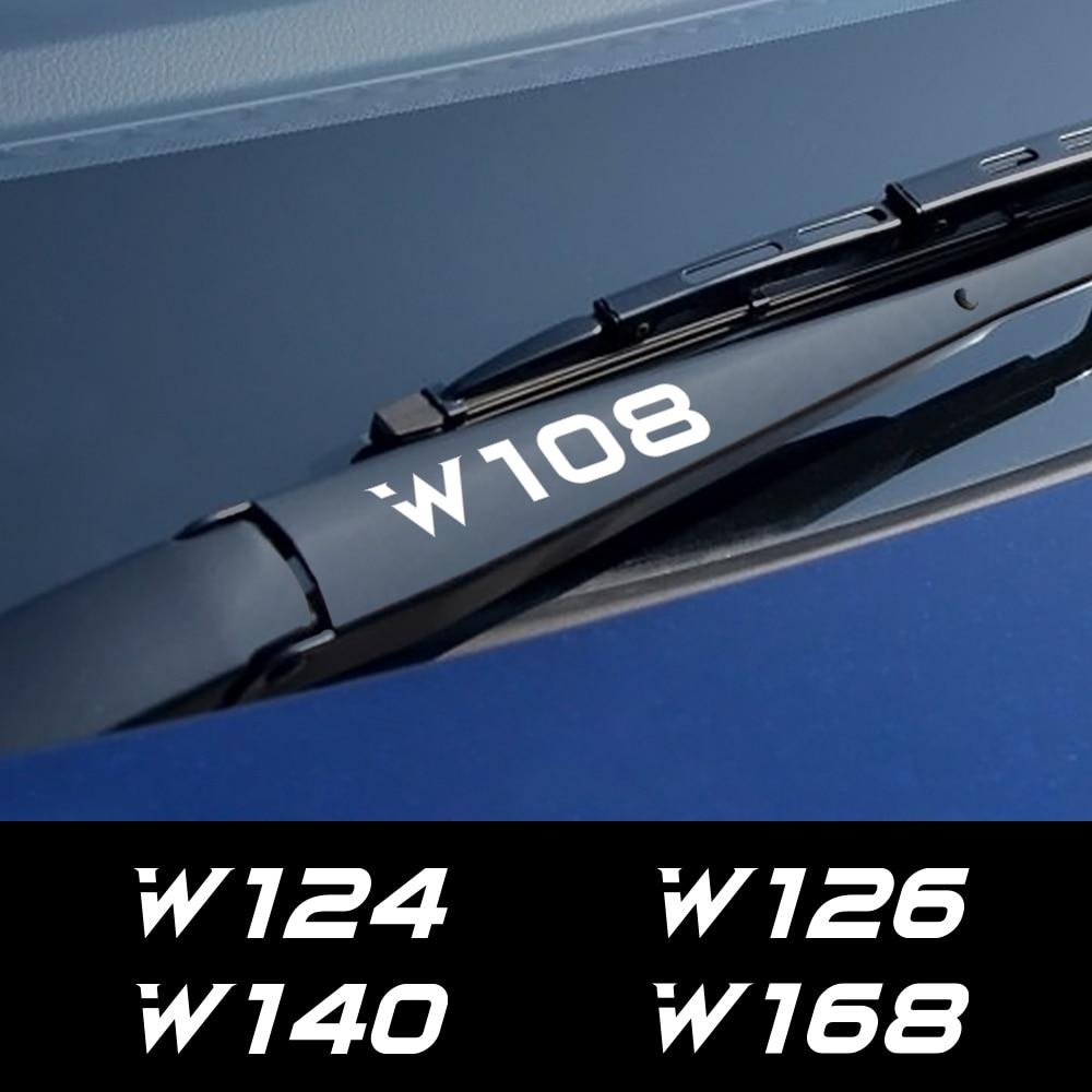 4 adet araba çıkartması pencere sileceği Sticker Mercedes Benz W205 W212 W204 W203 W210 W213 W220 W221 W222 W124 W126 w140 W168 W169 W176