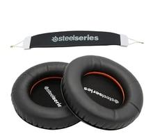 Capa para fones de ouvido, capa de substituição de espuma para steelseries v1 v2 v3, com almofada