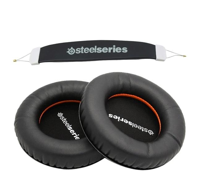 For Steelseries Siberia V1 V2 V3 Headset Sponge Cushion Earbud Cover Headphone Replacement Foam Earpads +headband  Pads