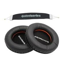 Pour Steelseries sibérie V1 V2 V3 casque éponge coussin oreillette couverture casque remplacement mousse oreillettes + bandeau coussinets