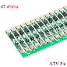 100pcs 1S 3.7V 2A li ion BMS PCM 18650 Lithium Batterij Bescherming Boord Overbelasting over ontlading Korte circuit PCB ion li Mobiele