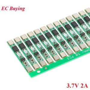 Image 1 - 100pcs 1S 3.7V 2A li ion BMS PCM 18650 Lithium Batterij Bescherming Boord Overbelasting over ontlading Korte circuit PCB ion li Mobiele