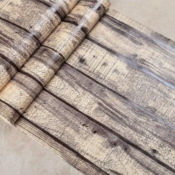 Papel tapiz de madera de Vintage 3d paneles de madera y papel de pared de vinilo de PVC revestimiento de pared de tablones de madera