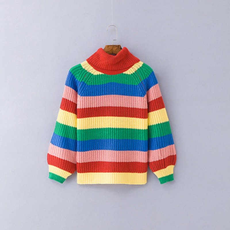 Long Sleeve New Color  Fashion Maternity SweaterStriped Knit Pullover Pregnancy Women Sweater Clothes
