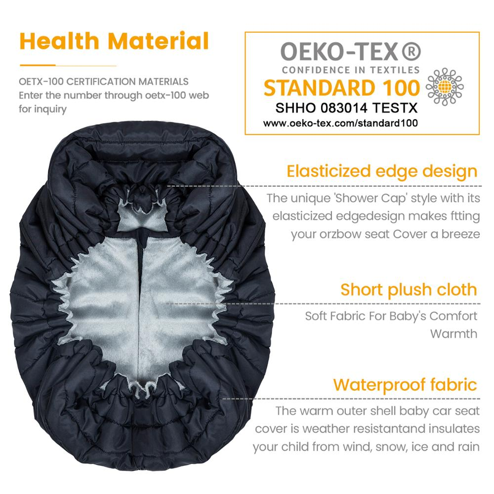 Orzbow Baby Basket Car Seat Cover Warm Newborn Infant Carrier Cover Waterproof Baby Car Seat Envelope Newborn Footmuff in Travel 5