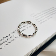 925 sterling silver The adjustable ring Retro personality Holiday gift lovers fashion jewelry