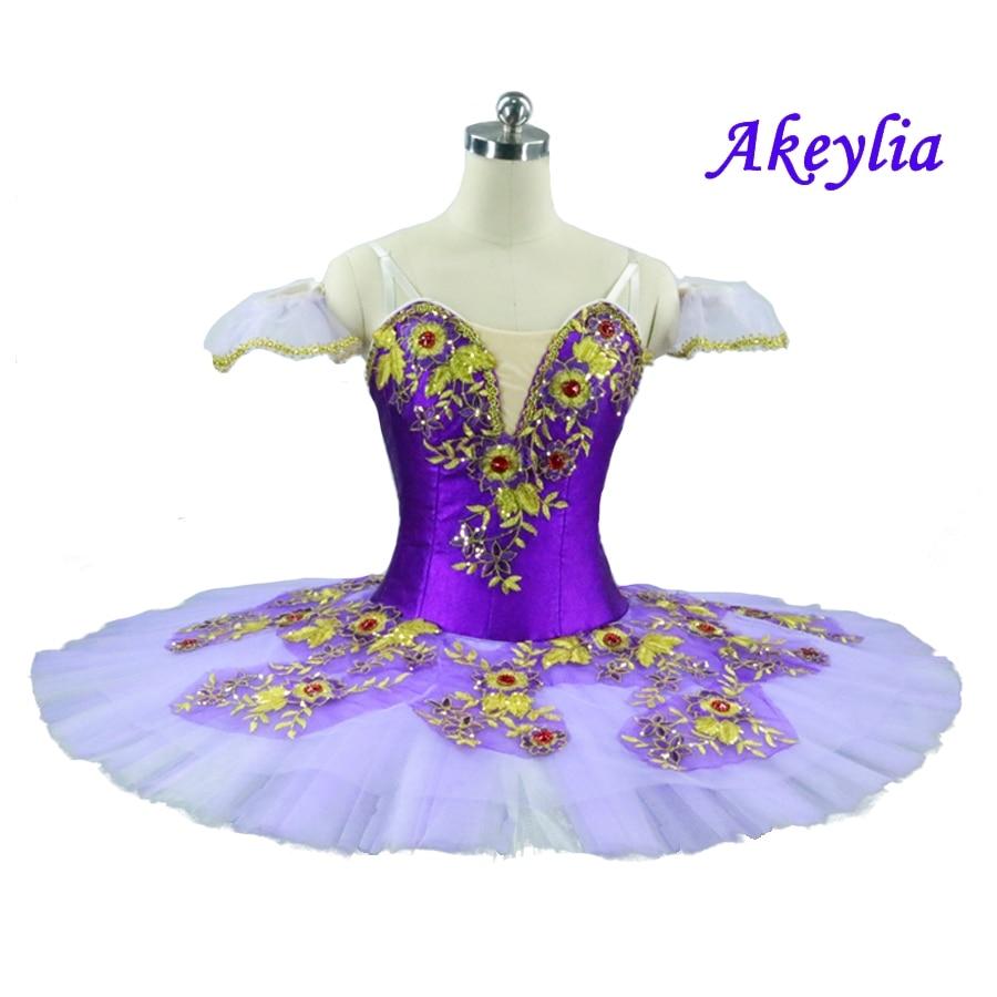 Girls Purple Fairy Tutu Adult Women Professional Ballet Tutu Ballerina Pancake Platter Classical Sleeping Beauty Ballet Costume