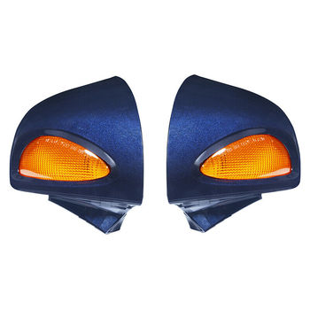 Motorcycle Dark Blue Rear View Mirrors Turn Signals For BMW R1100RT R1150RT R1100 RT R1150 RT image