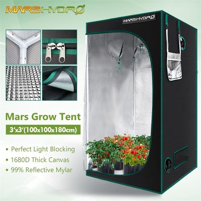 Marshydro 100x100x180cm Grow Tent 1680D indoor  1