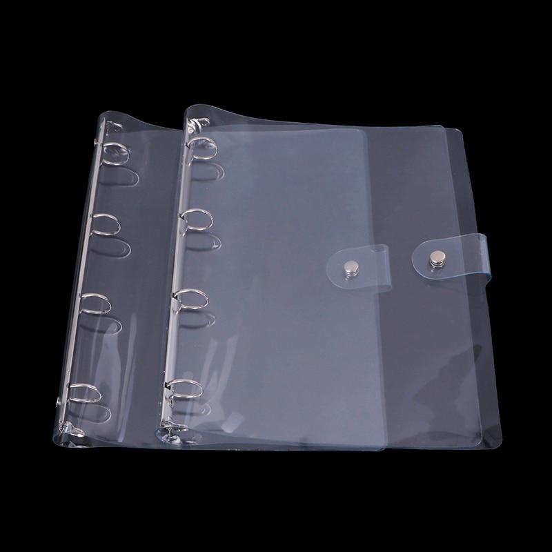 Transparent Color Plastic Clip File Folder A4 Notebook Loose
