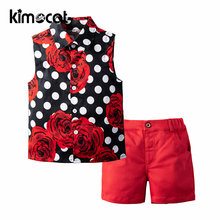 Kimocat одежда для маленьких девочек Новинка лета 2020 рубашка