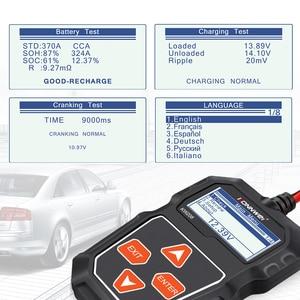Image 2 - Konnwei KW208バッテリーテスター車デジタル12v 100 2000CCAクランキング充電システムテストツール自動車バッテリー容量テスター