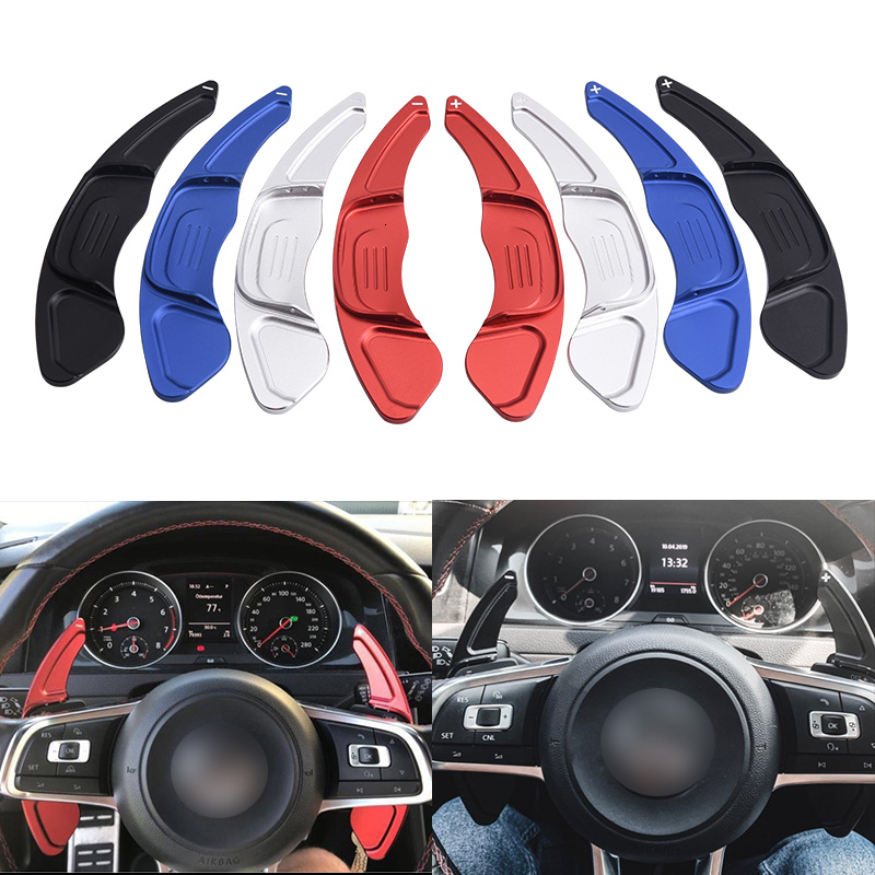 SPEEDWOW 1Pair Car Aluminum Steering Wheel Extension Shift Paddles For Volkswagen VW GOLF 7 2015  GTI R MK7 Scirocco Auto PartsSteering Wheels & Steering Wheel Hubs   -