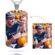 Personifizierte Halskette Collares Halskette Kolye Nach Foto Anhänger Drei Ketten Liebhaber Vater Mutter Familie Unisex Geschenke