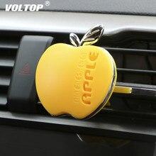 Acessórios do carro do perfume do refrogerador de ar da forma da maçã para o respiradouro de ar do carro das meninas difusor do óleo essencial do carro decoração do cheiro para a menina