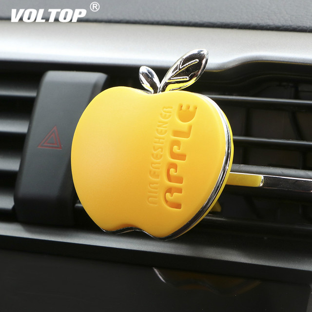 Apple Shape Air Freshener Perfume Car Accessories for Girls Car Air Vent Essential Oil Car Diffuser Smell Decoration for Girl
