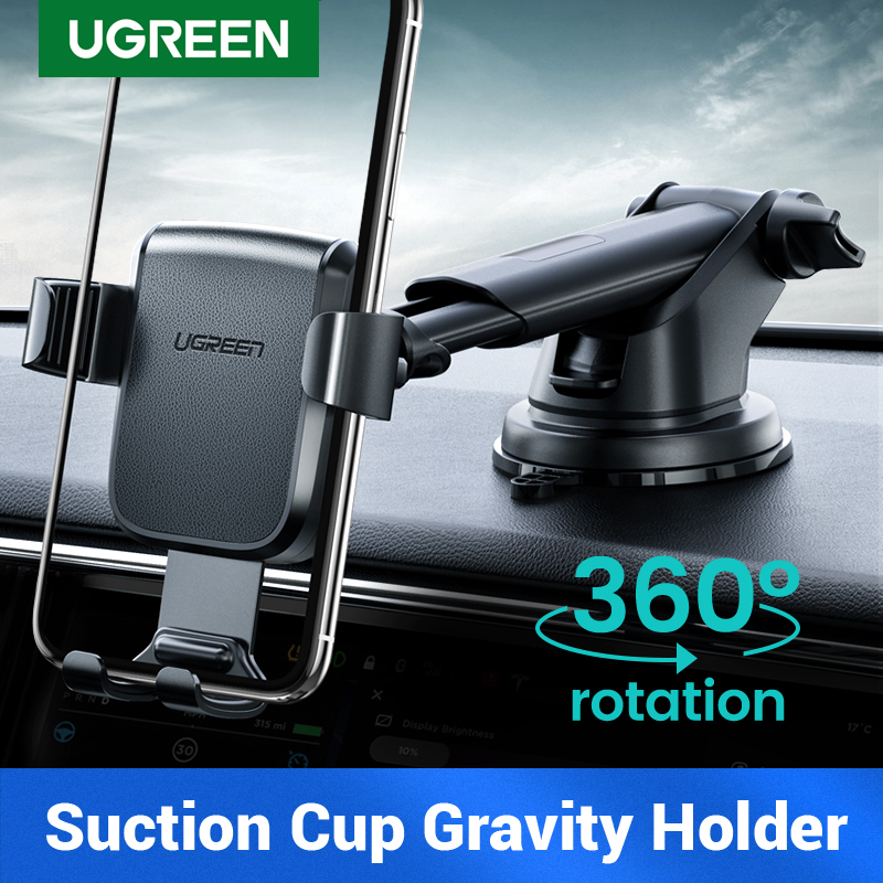 Ugreen Car Holder For Your Mobile Phone Stand In Car Cellular Gravity Support Holder For IPhone 11 Car Suction Cup Mobile Holder