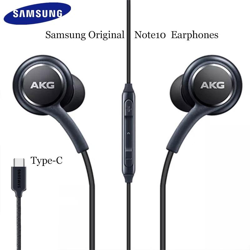 Оригинальные цифровые Hi-Fi наушники Samsung AKG DAC USB TYPE C с микрофоном/пультом дистанционного управления для Galaxy Note 10 Pro A8S A60 A80 A90