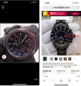 Special Difference price for old Customers : 2 watches