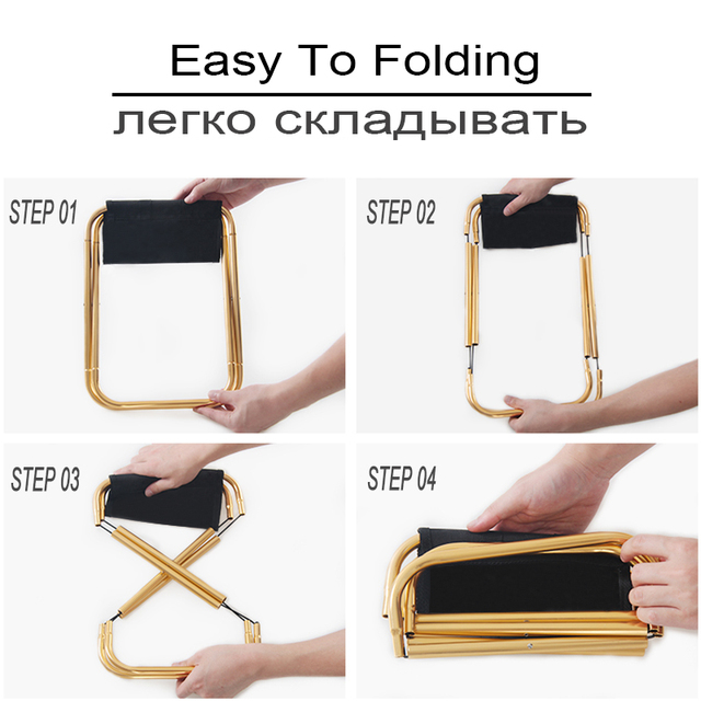 Folding Fishing Chair Lightweight Picnic Camping Chair Foldable Aluminium Cloth Outdoor Portable Easy To Carry Outdoor Furniture 3