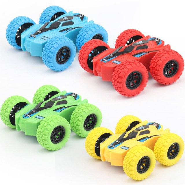 Children Inertia Double-sided Dump Truck Resistant Falling 360 Tumbling Spinning Toy Car Turned To Kid Gift Toys 2