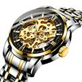 Мужские автоматические механические часы HAIQIN  модные деловые водонепроницаемые спортивные часы из стали
