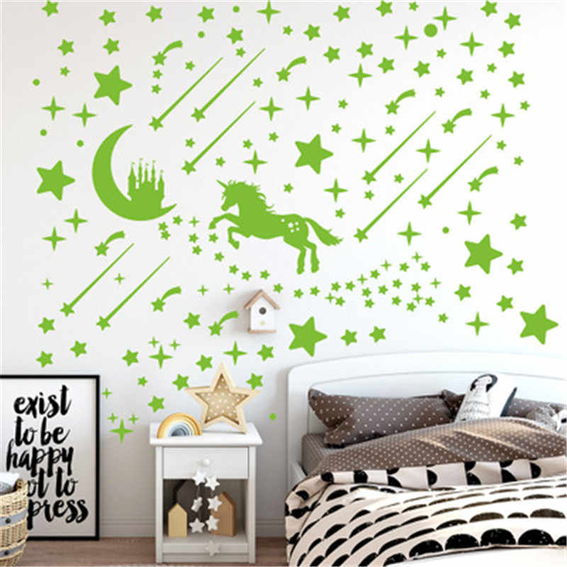 Glow In Dark Wall Ceiling Stars Moon Stickers Wall Stickers Night Kid Home Decor For Sale Online Ebay