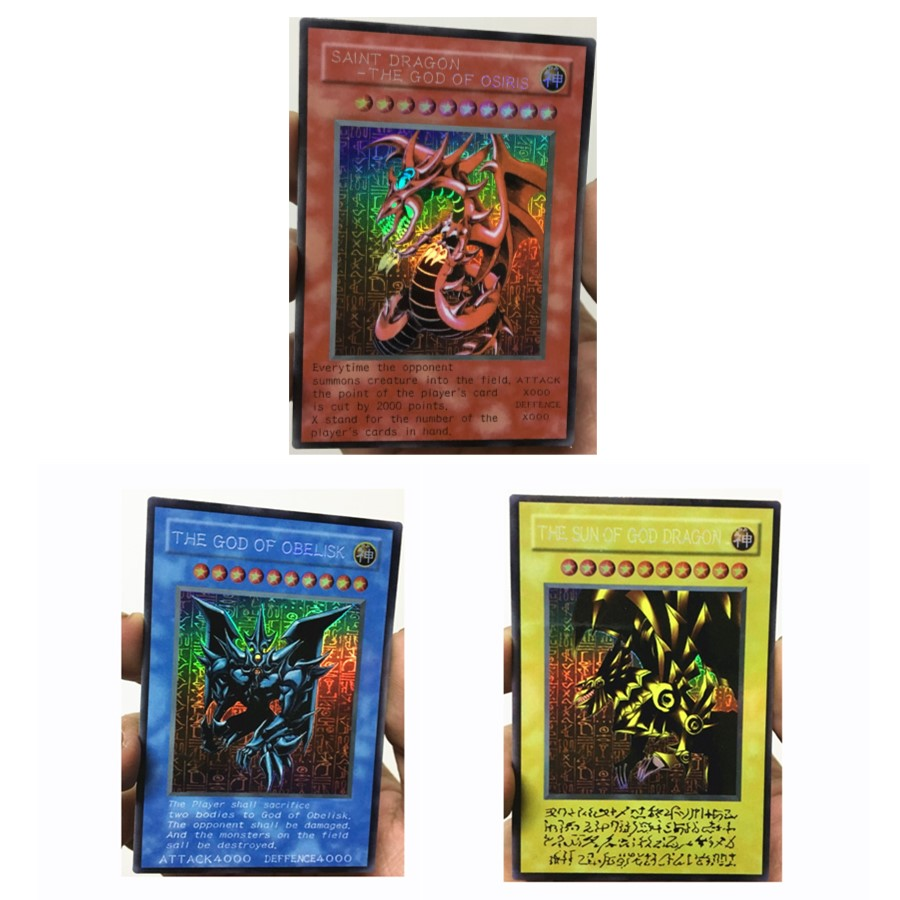 Yu Gi Oh DIY Egyptian God Slifer The Sky Dragon Toys Hobbies Hobby Collectibles Game Collection Anime Cards