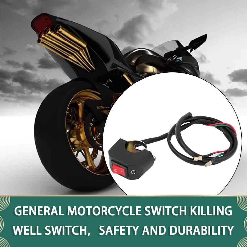 Lumière universelle de guidon de vélo de moto ATV sur le connecteur de bouton de commutation de mort vente chaude