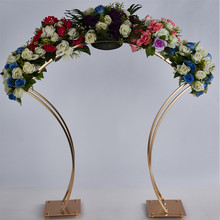 5PCS New Style Flower Rack Gold Arch Stand Road Lead Wedding Centerpiece Flower Rack For Event Party Decoration