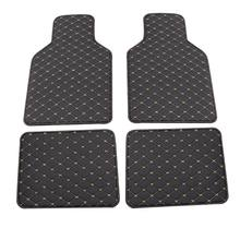 Alfombrilla Universal de cuero PU para suelo de coche, almohadillas impermeables para pies, Protector Q9QD, 4 Uds.