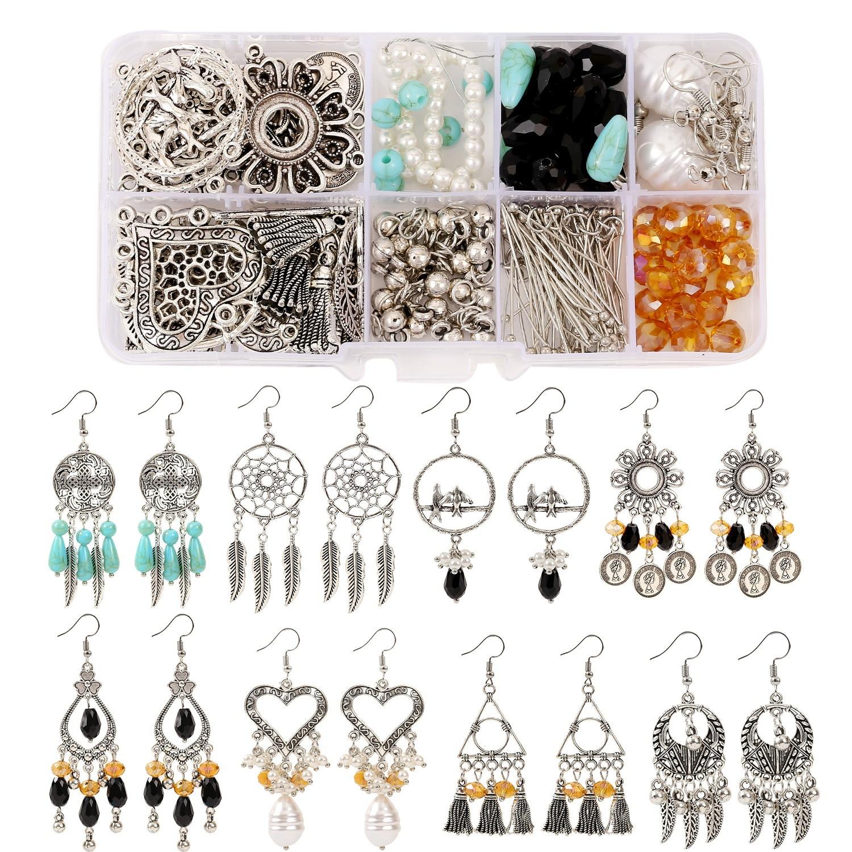 Earring Post Earrings Making and Repairing Jump Rings DICOBD 3700pcs Earring Making Supplies Kit with 6 Colors Earring Hooks