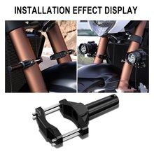 Motorcycle Spotlight Shock Absorption Extension Bracket Modification Headlight Stand Spotlight Extension Pole Bracket