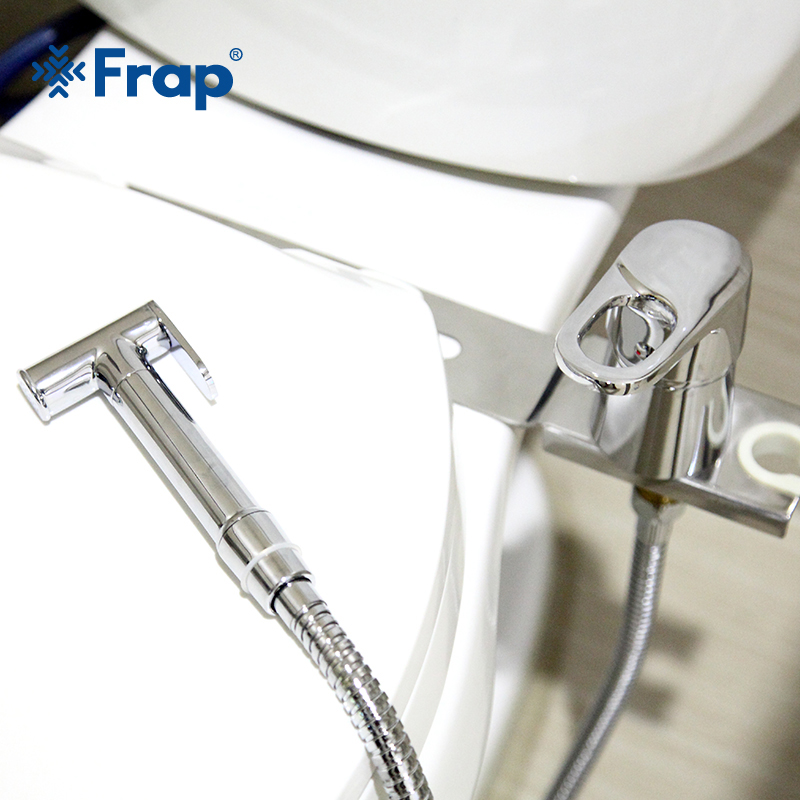 FRAP New Bidets Toilet Faucet Brass Hygienic Shower Handheld Bidet Toilet Portable Bidet Shower Hot And Cold Water Bidet Mixer